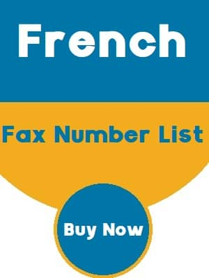 French Fax Number List